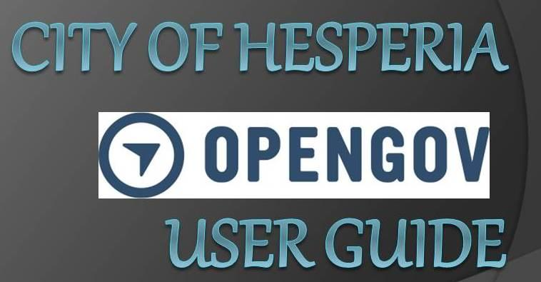 OpenGov Citizen User Guide
